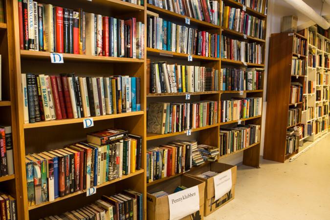 Bilde av Miljøhusets bokhyller
